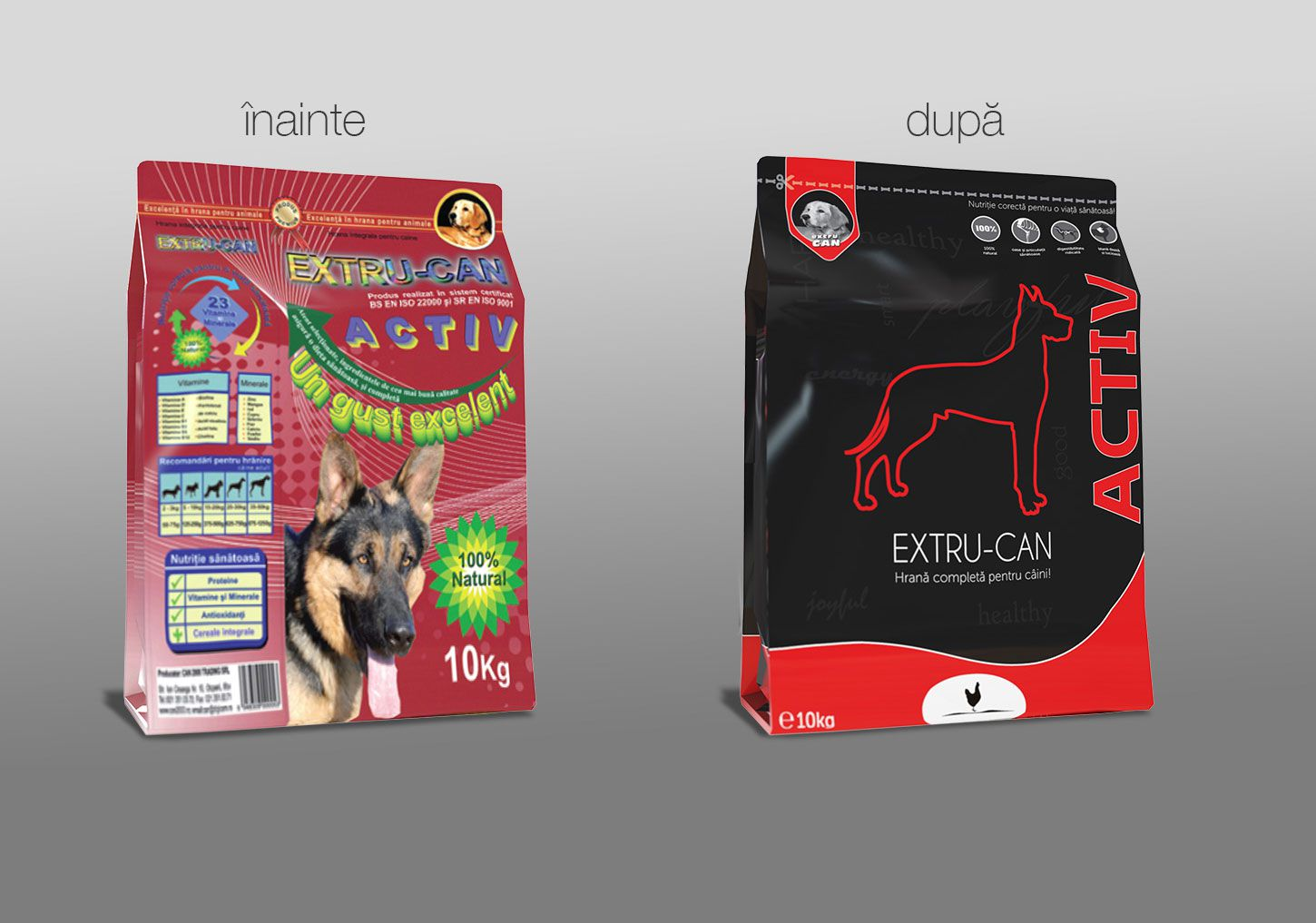 Rebranding Design Ambalaj Pet Food