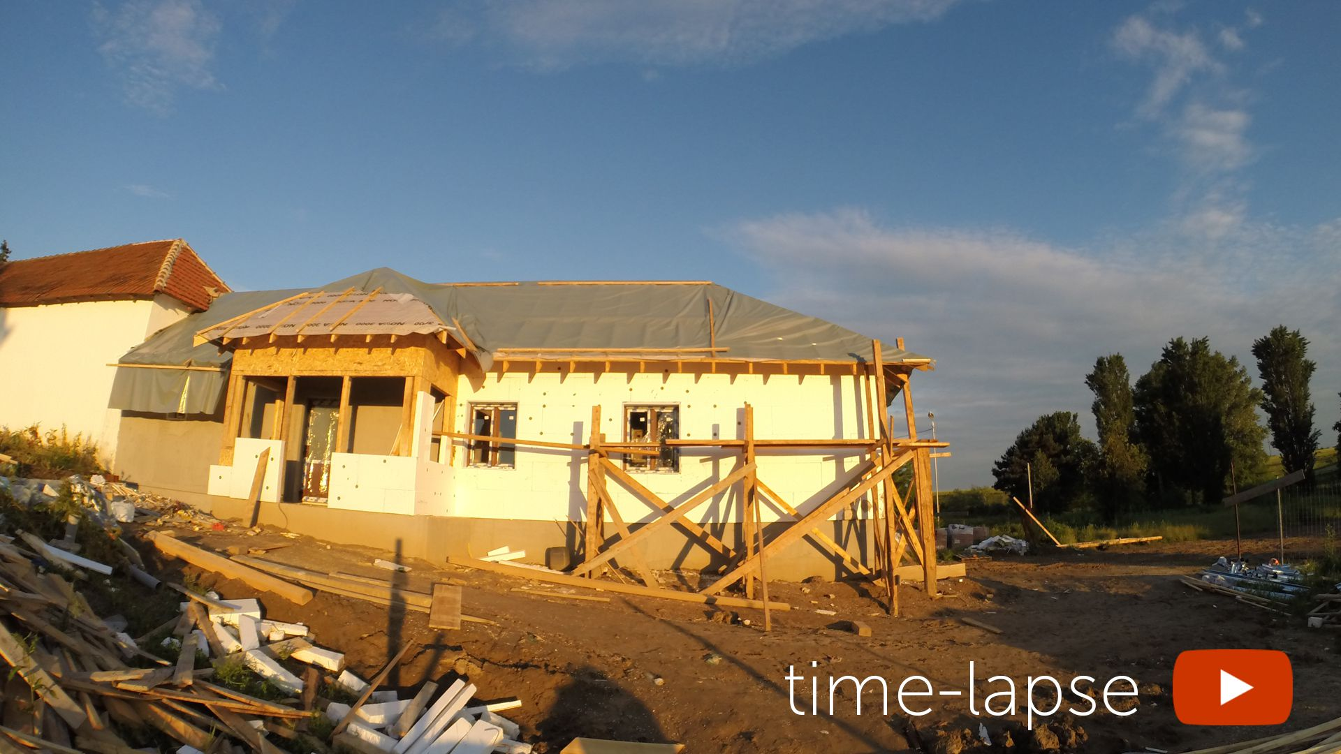 Video 4K time-lapse constructie casa